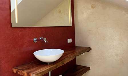 Stucco  Veneziano Rot im Badezimmer
