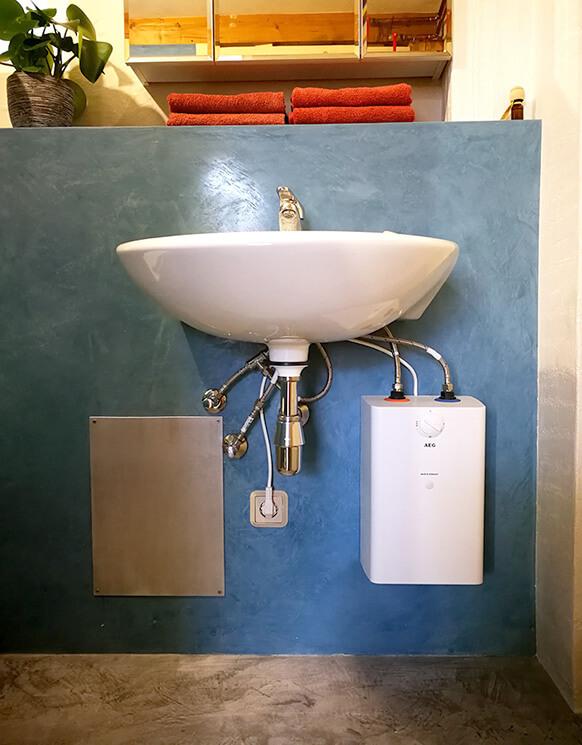 Toilette fugenlos mit Kalkboden 2