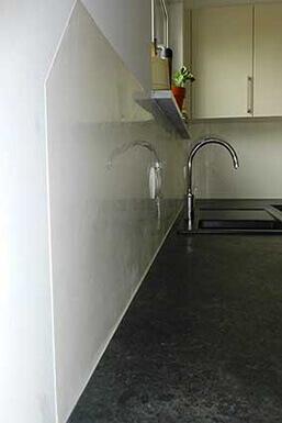 Stucco fugenloser Küchenspiegel